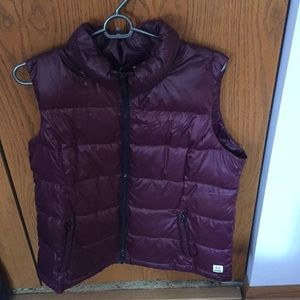 PINK dark purple (plum) puffer vest